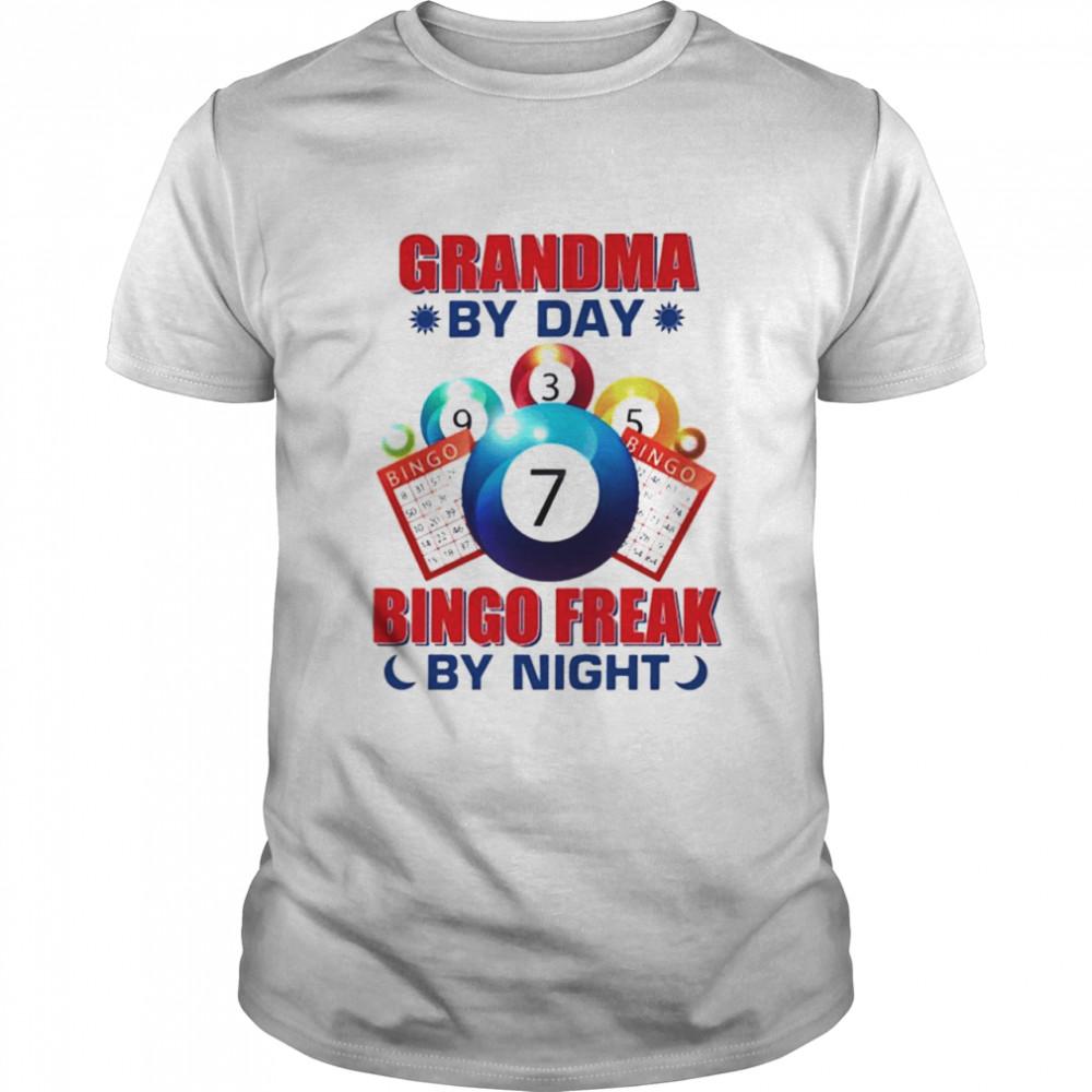 Grandma by day bingo freak by night shirt Classic Men's T-shirt