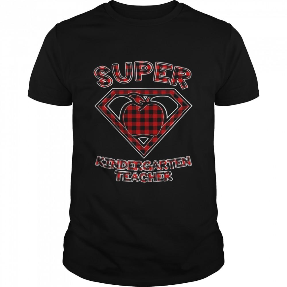 Super Kindergarten Teacher Superhero Apple T-shirt Classic Men's T-shirt