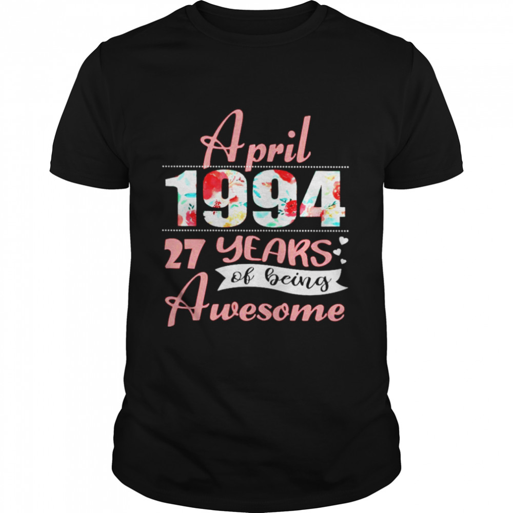 April 1994 27 years of being awesome shirt Classic Men's T-shirt