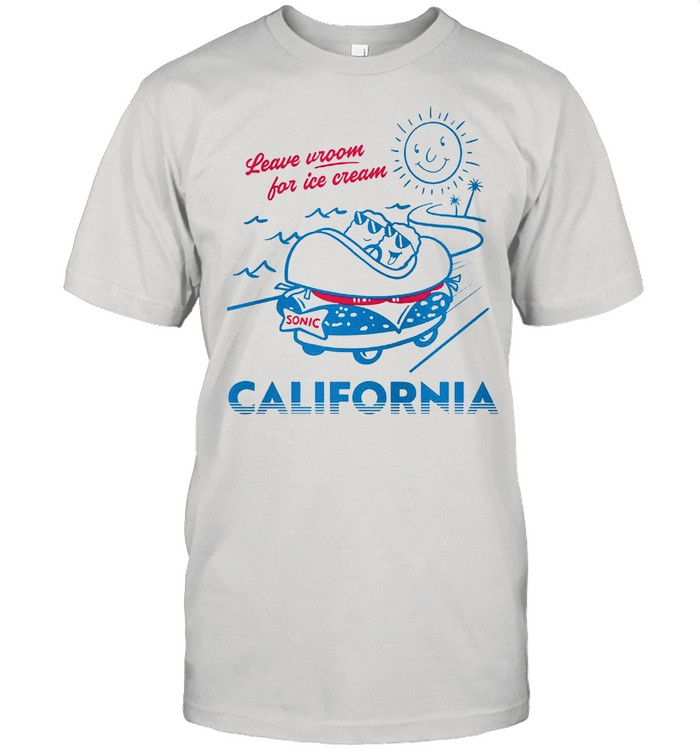 Leave Room For Ice Cream Sonic Drive In State California T-shirt Classic Men's T-shirt
