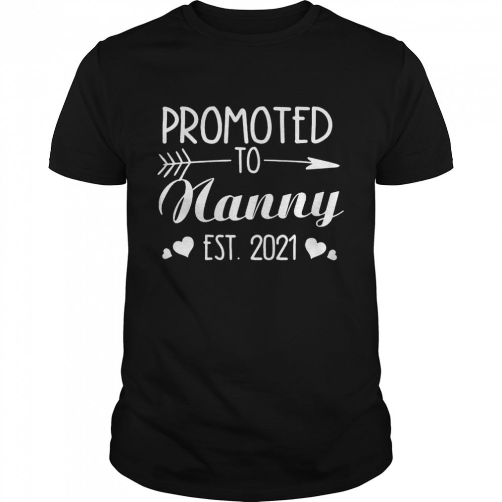 Promoted to nanny est 2021 shirt Classic Men's T-shirt