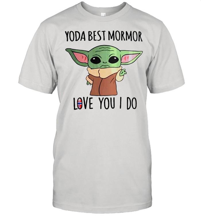 Yoda best mormor love you I do Norway Flag shirt Classic Men's T-shirt