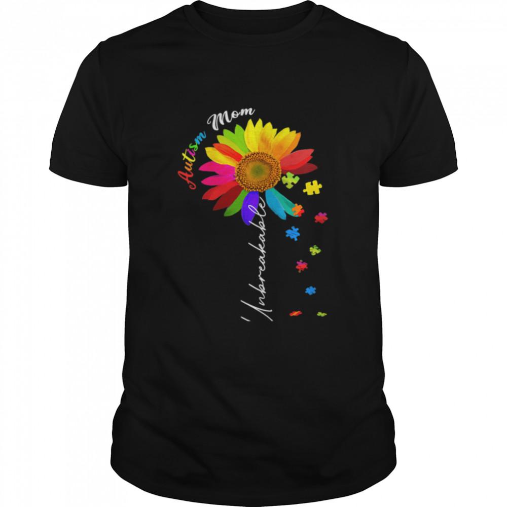 Autism Mom Unbreakable Autism Awareness Daisy Floral  Classic Men's T-shirt