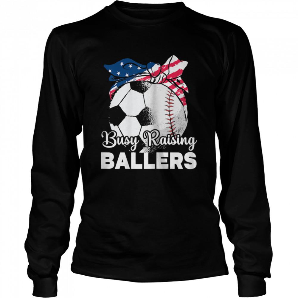 busy raising ballers mothers day baseball sport shirt long sleeved t shirt