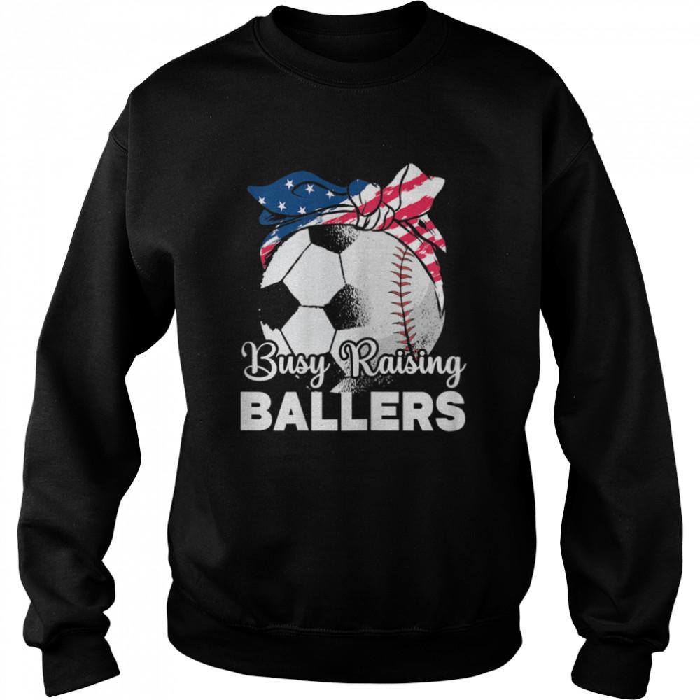 busy raising ballers mothers day baseball sport shirt unisex sweatshirt