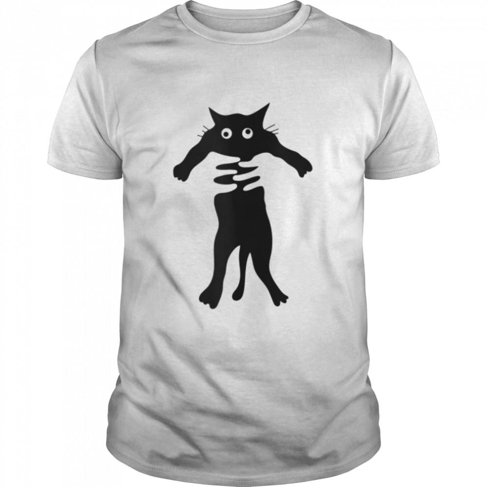 crosseyed cat being hugged shirt Classic Men's T-shirt