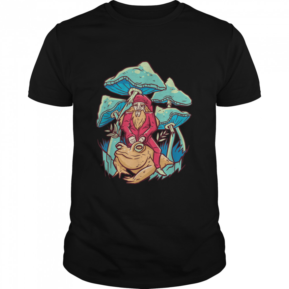 Frog Red Spotted Mushroom Little Froggie Themed  Classic Men's T-shirt