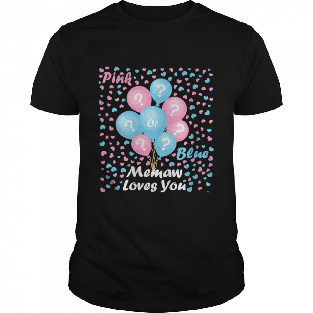 Gender Reveal Pink or blue mommy loves you  Classic Men's T-shirt