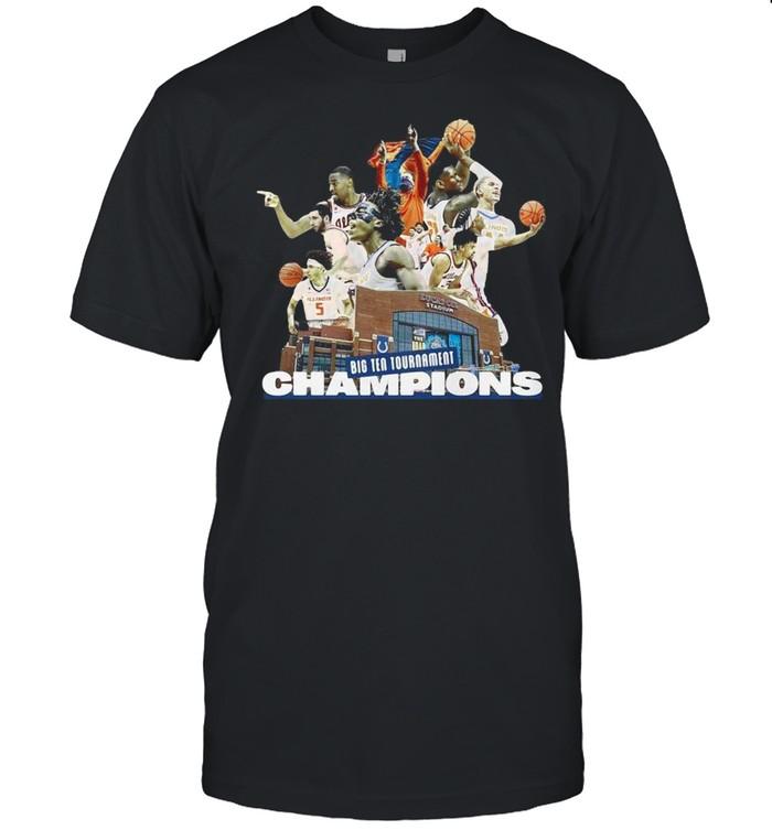 Illinois Fighting Illini Big Ten Tournament Champions Team Basketball shirt Classic Men's T-shirt