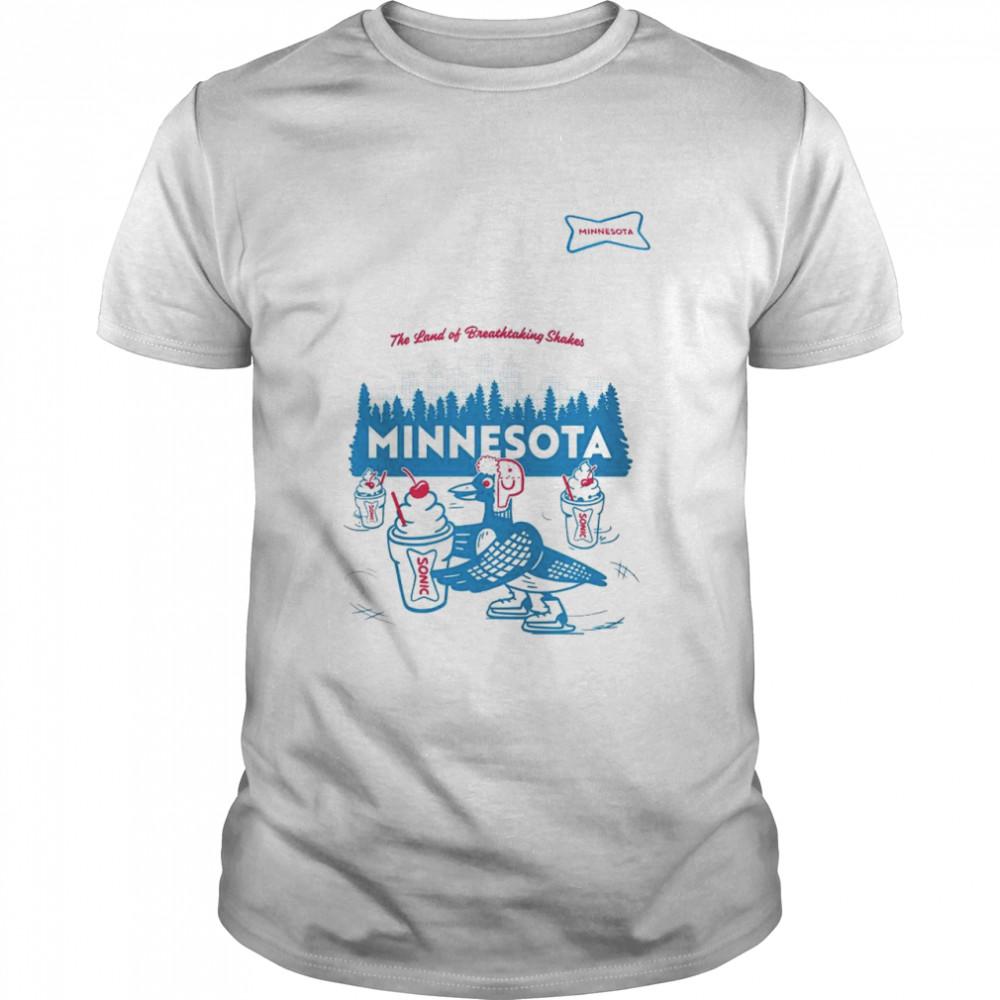 Sonic the land of breathtaking shakes Minnesota shirt Classic Men's T-shirt