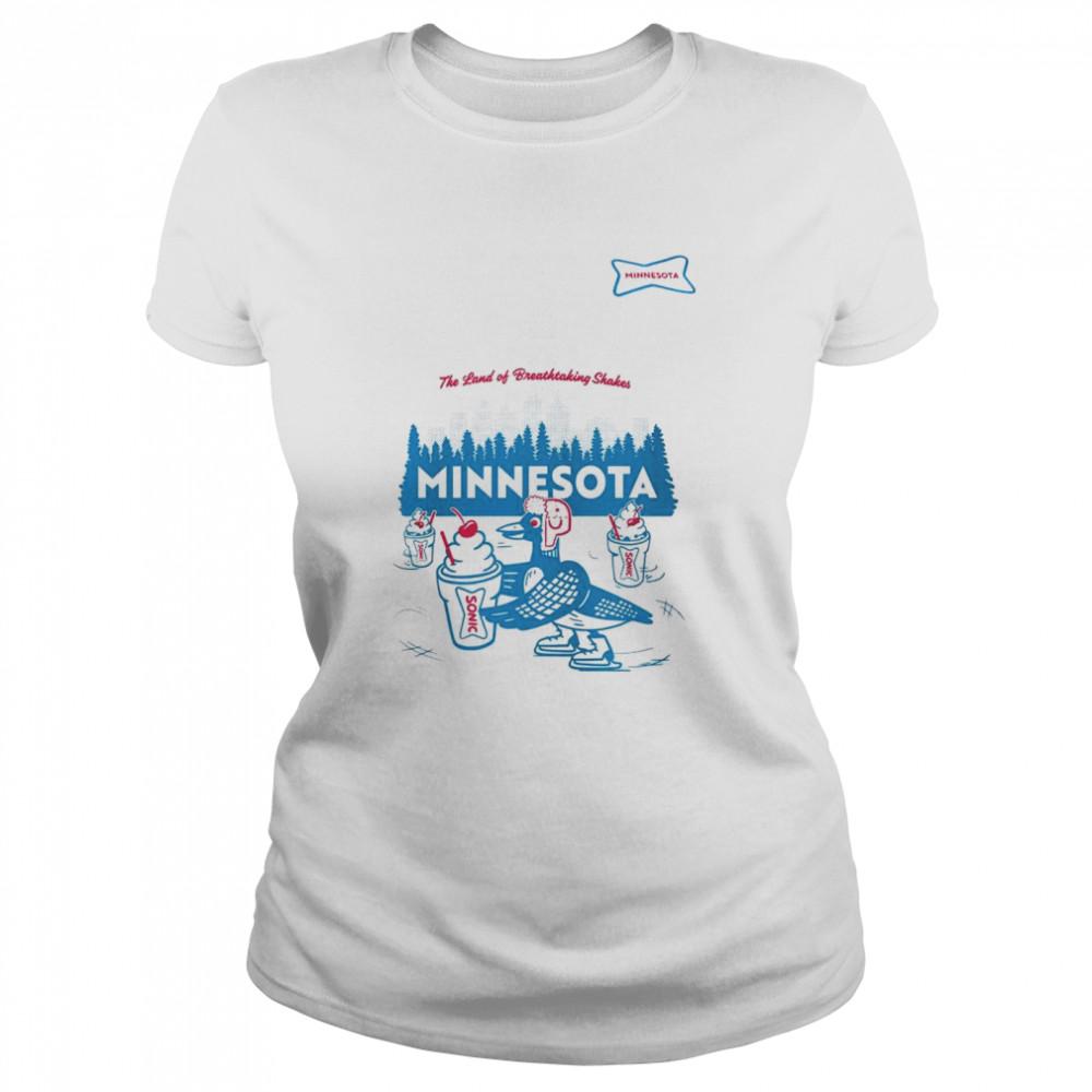 sonic the land of breathtaking shakes minnesota shirt classic womens t shirt
