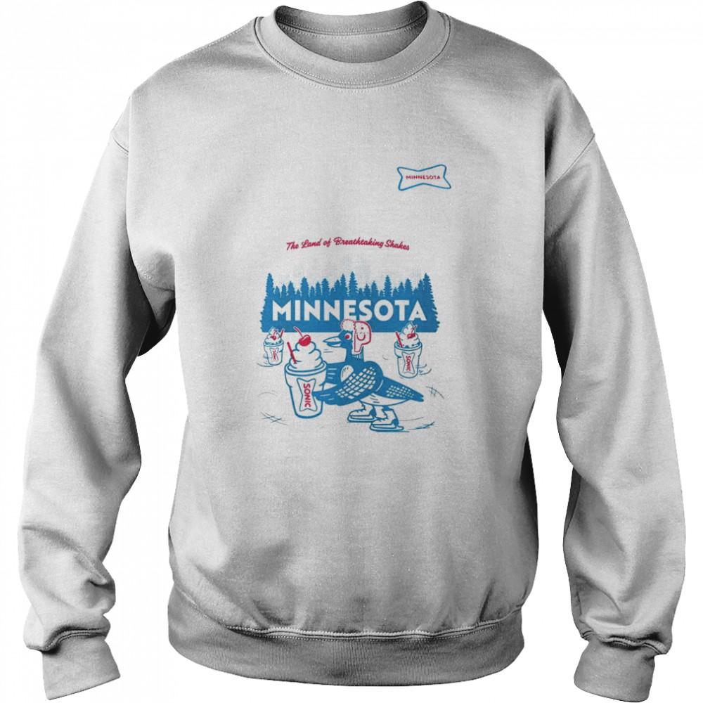 sonic the land of breathtaking shakes minnesota shirt unisex sweatshirt