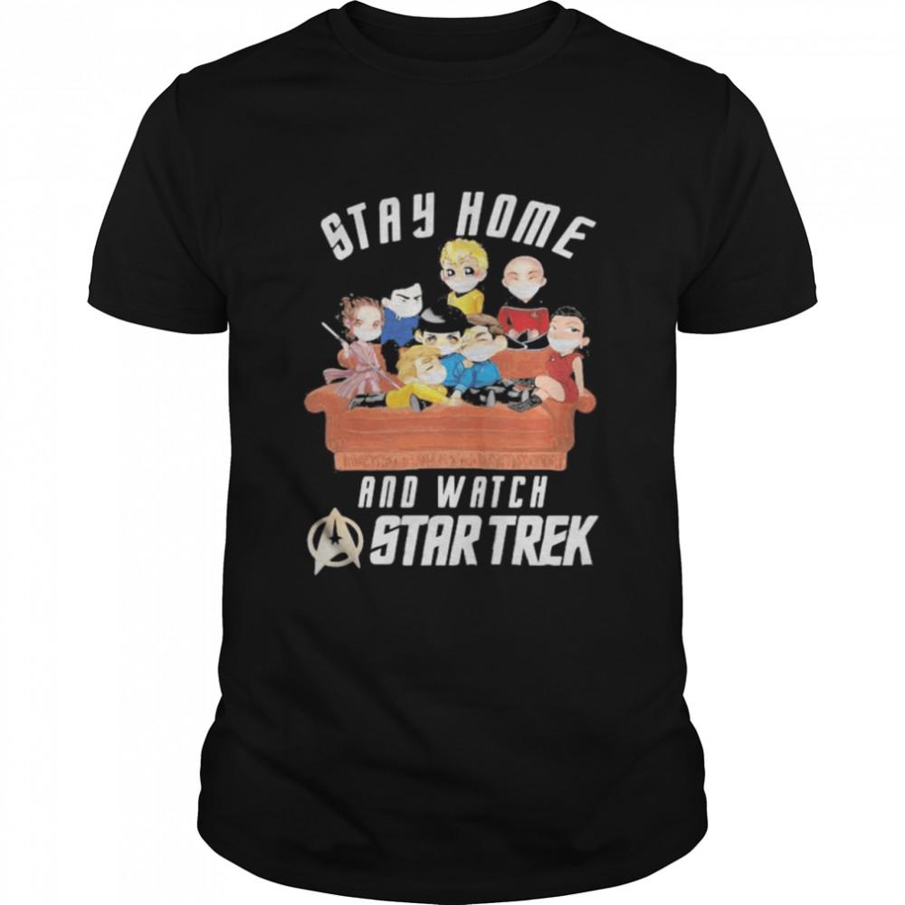 Stay Home And Watch Star Trek Wear Mask Corona Virus  Classic Men's T-shirt