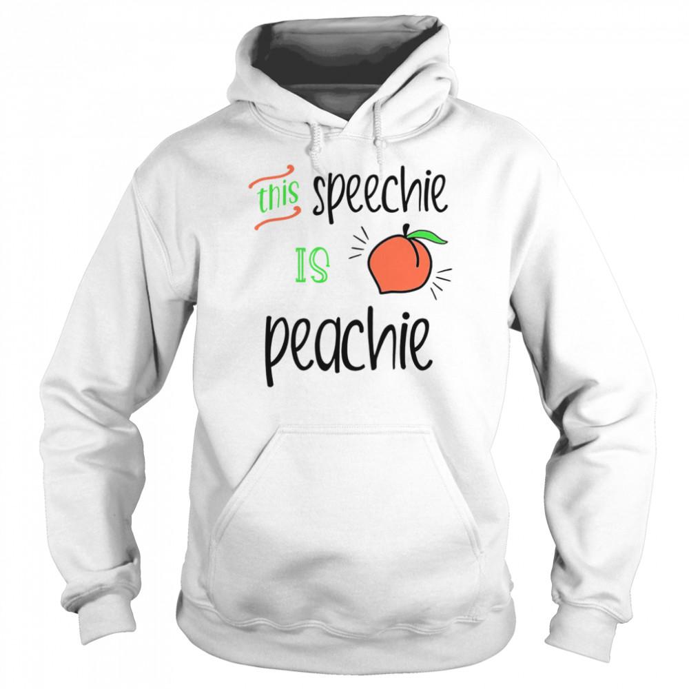 this speechie is peachie  unisex hoodie