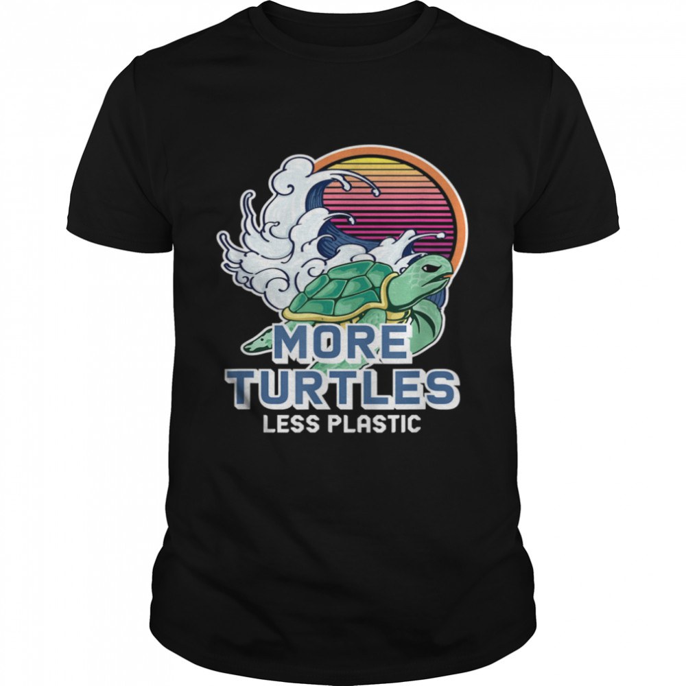 Turtle Girl Save the Turtles Earth Day  Classic Men's T-shirt