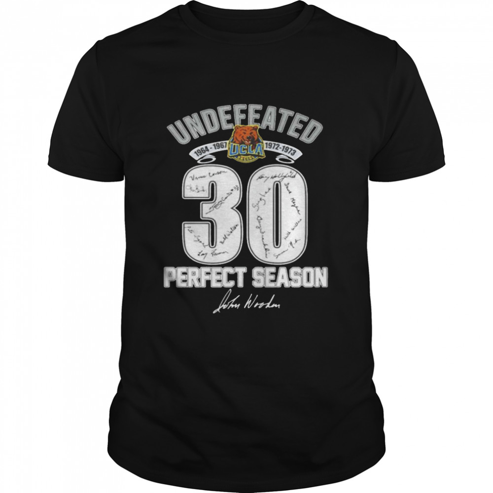 Undefeated UCLA Bruins 30 ferfect season signature shirt Classic Men's T-shirt