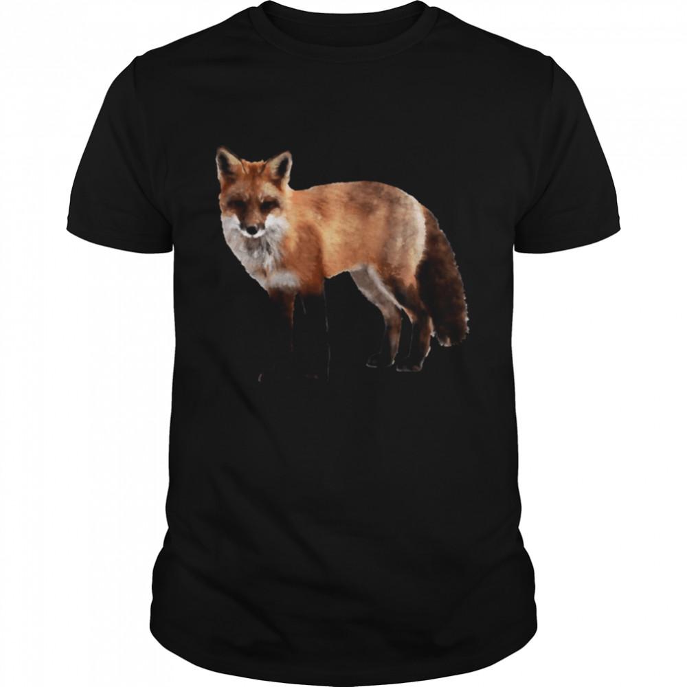 Watercolor fox wildlife painting illustration  Classic Men's T-shirt