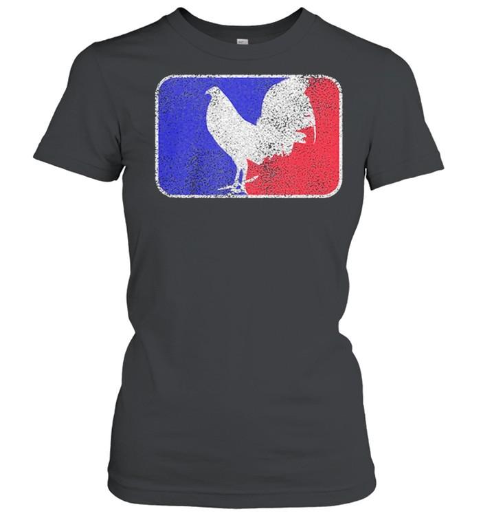 chicken france flag shirt classic womens t shirt