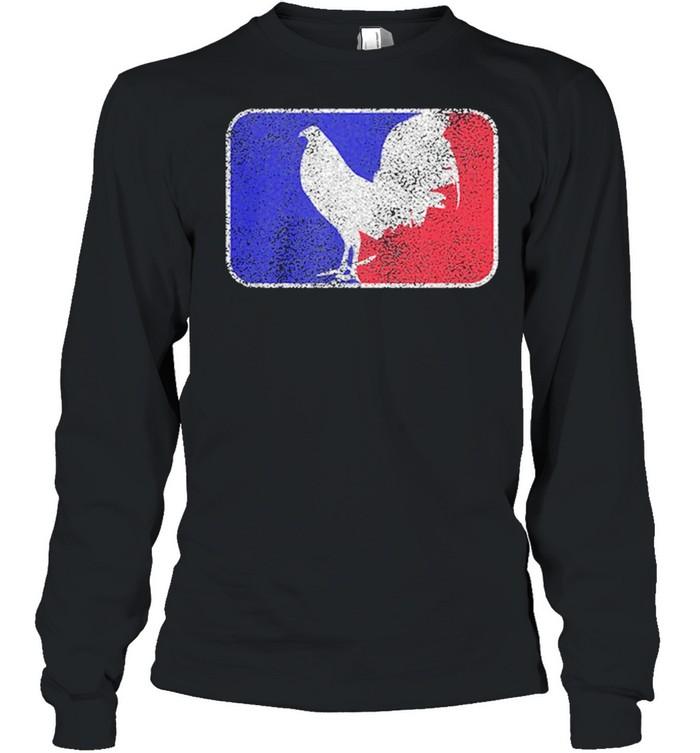 chicken france flag shirt long sleeved t shirt