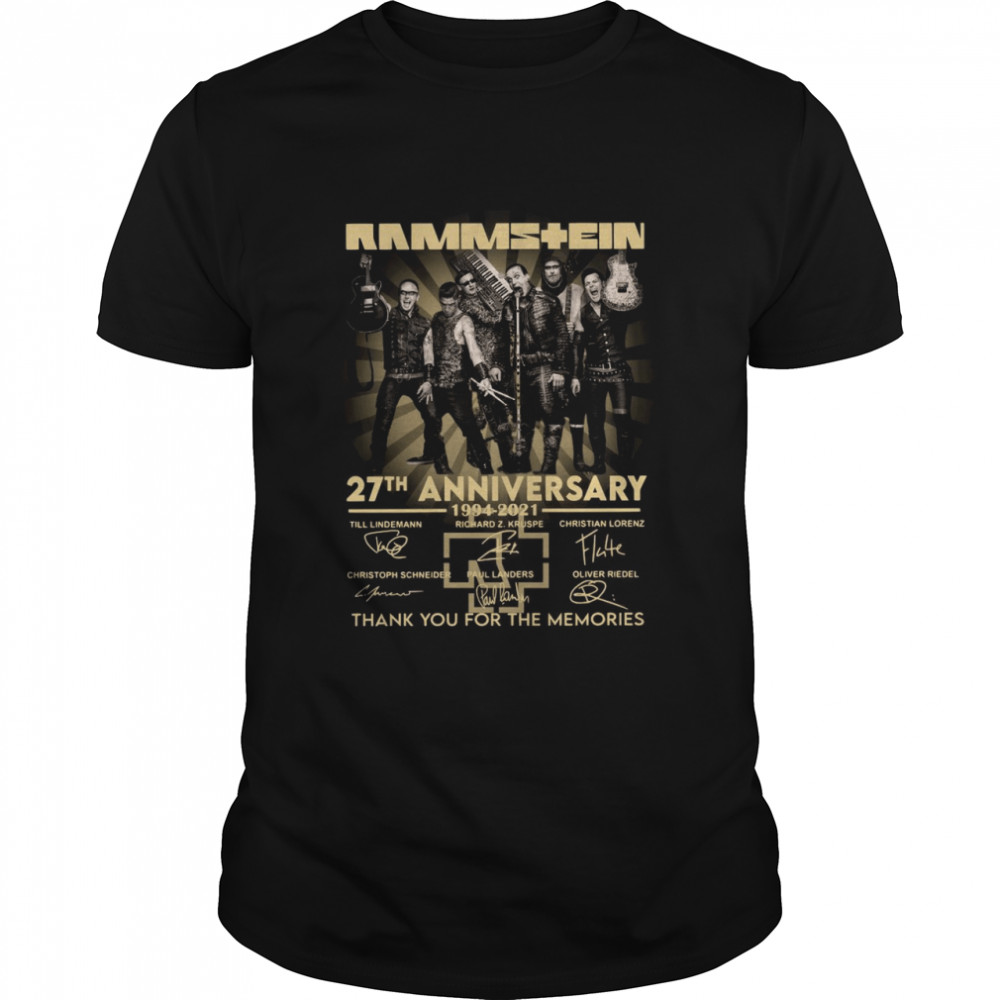 Rammstein 27th anniversary 1994 2021 thank you for the memories signatures shirt Classic Men's T-shirt