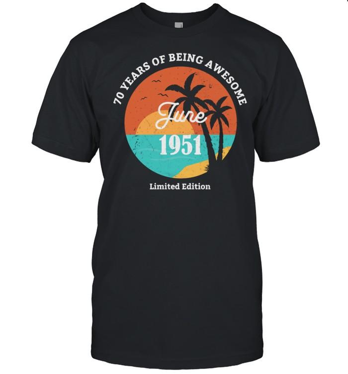 70.Geburtstag Geschenk Juni 1951 shirt Classic Men's T-shirt
