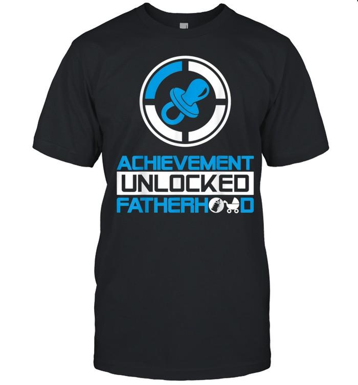 Achievement Unlocked Fatherhood New Dad  Classic Men's T-shirt