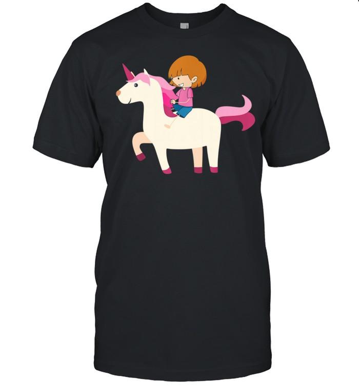 Colorful Rainbow Unicorn Rider  Classic Men's T-shirt