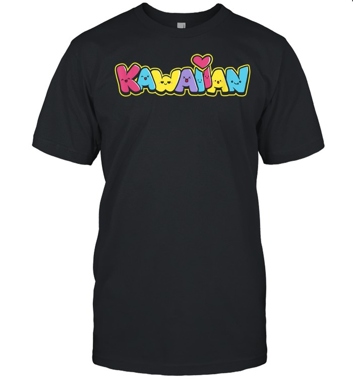 Kawaiian Community Graffitti with Fun Kawaii Faces  Classic Men's T-shirt
