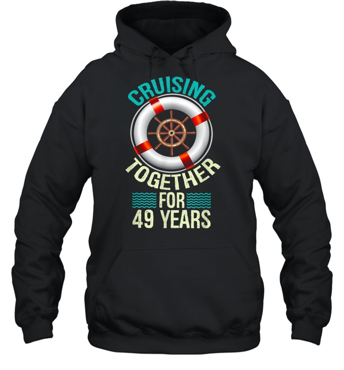 parents 49th anniversary couples husband wife cruise  unisex hoodie