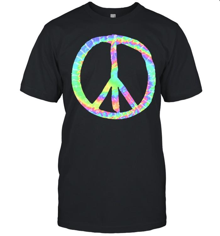 Tie Dye Friedenszeichen Liebe Glück Bunte Tye Dye Hippie shirt Classic Men's T-shirt