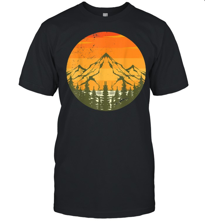 Trees Outdoors Mountains Hiking Nature Wildlife Forest shirt Classic Men's T-shirt