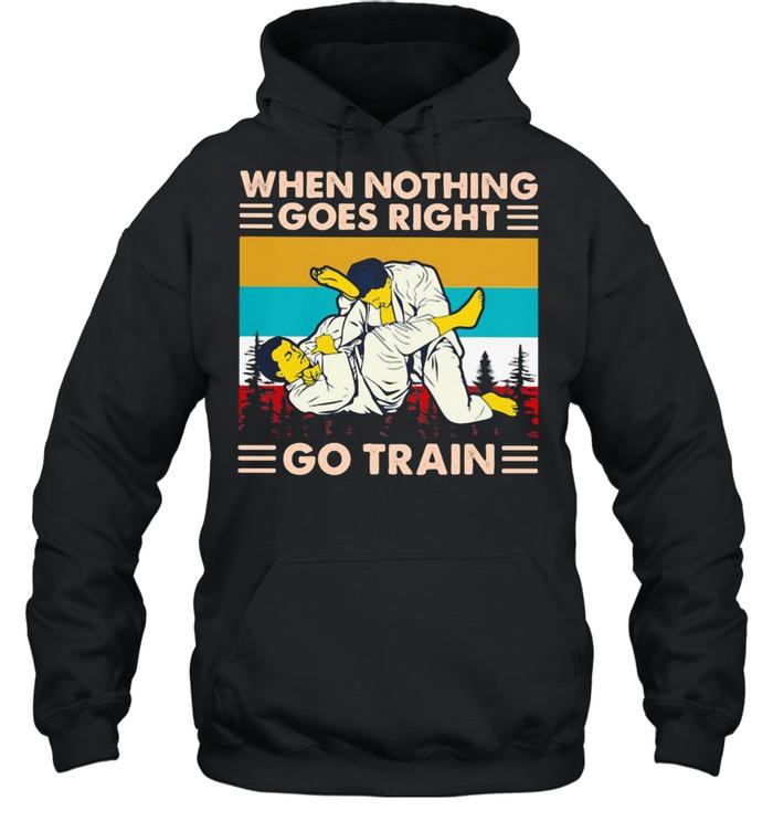 when nothing goes right go train jiu jitsu vintage  unisex hoodie