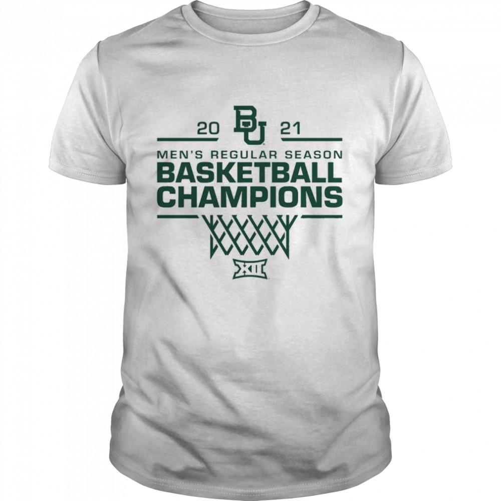 Baylor Bears 2021 Big 12 Mens Basketball Regular Season Champions shirt Classic Men's T-shirt