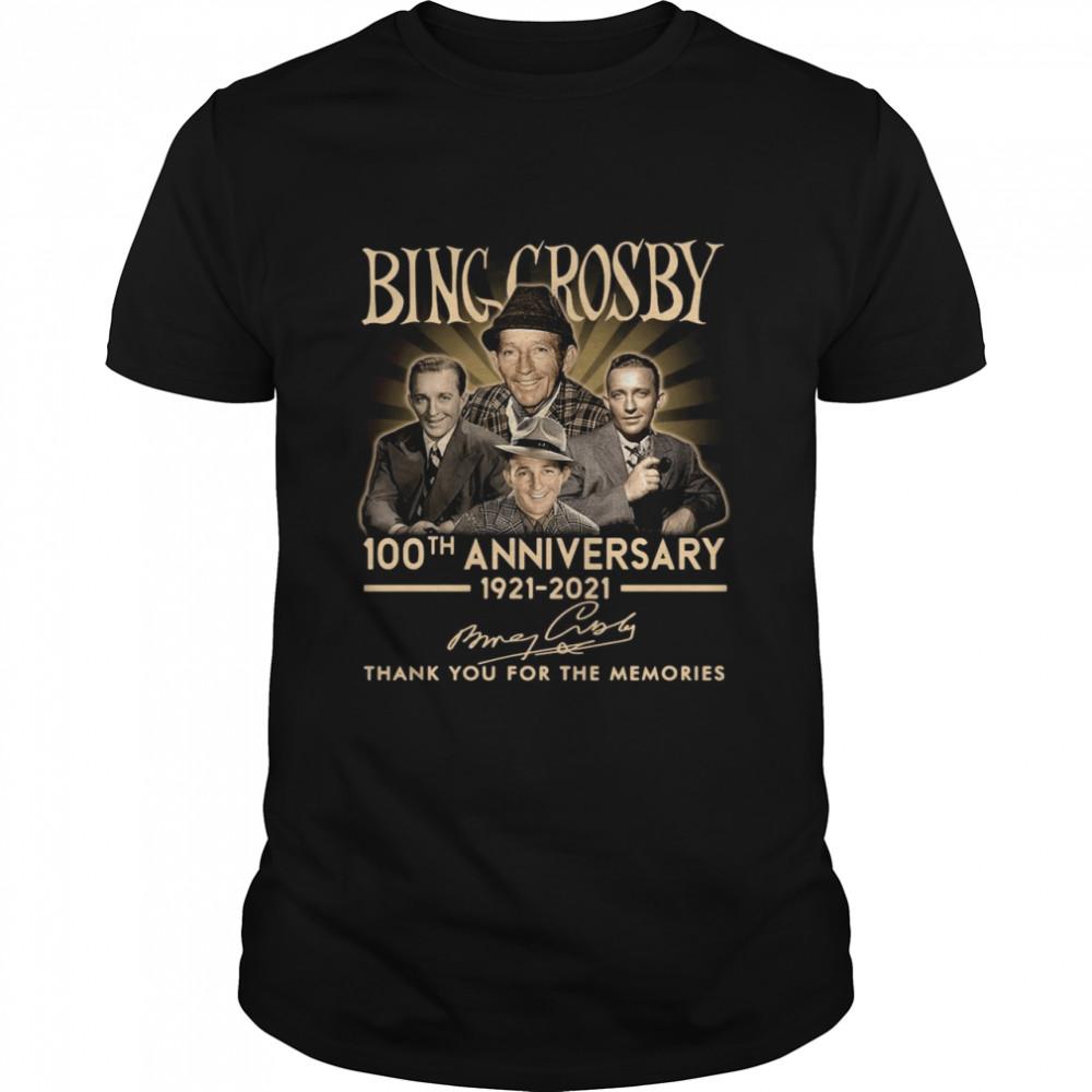 Bing Crosby 100th Anniversary 1921 2021 Thank You Signatures shirt Classic Men's T-shirt