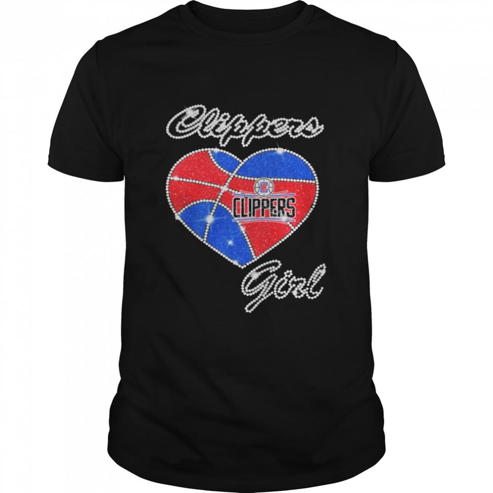 Heart Clippers Girl Diamond shirt Classic Men's T-shirt