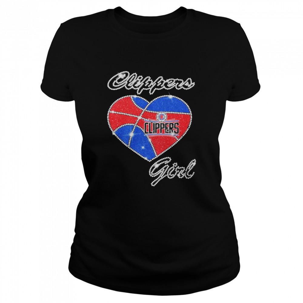 heart clippers girl diamond shirt classic womens t shirt