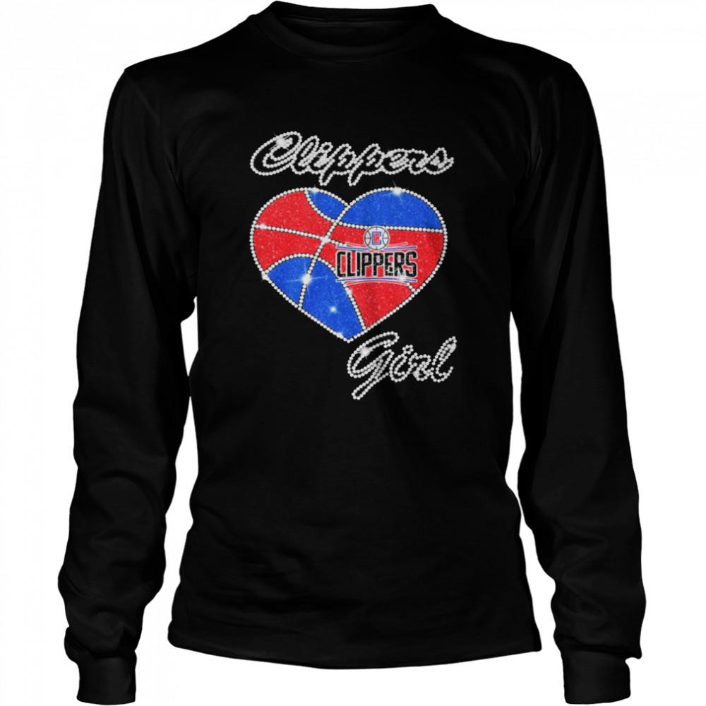 heart clippers girl diamond shirt long sleeved t shirt