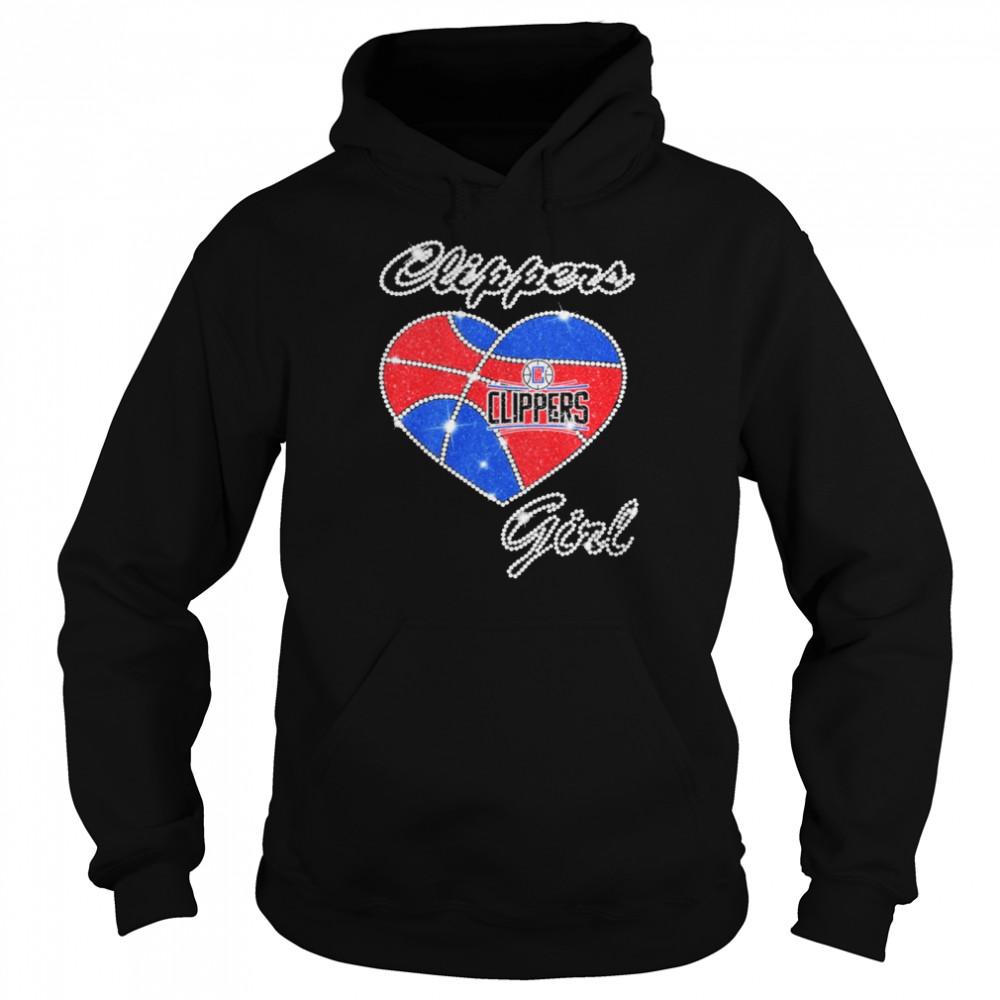 heart clippers girl diamond shirt unisex hoodie