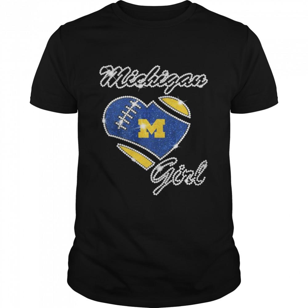 Heart Michigan Girl Diamond shirt Classic Men's T-shirt