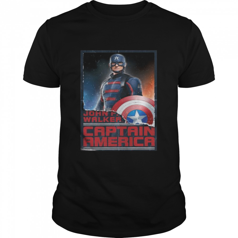 Marvel The Falcon and the Winter Soldier New Captain America  Classic Men's T-shirt