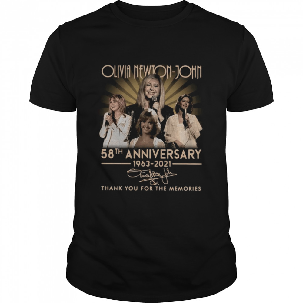 Olivia Newton-john 58th Anniversary 1963 2021 Signatures Thank You shirt Classic Men's T-shirt