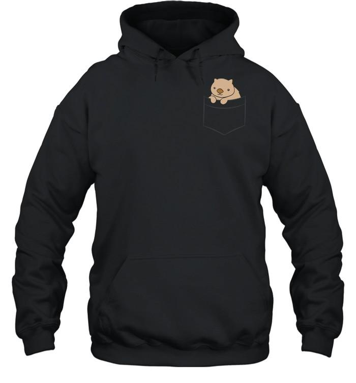 baby wombat in the pocket australian wombat  unisex hoodie