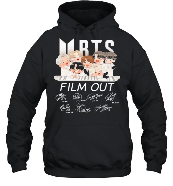 bts film out signature  unisex hoodie