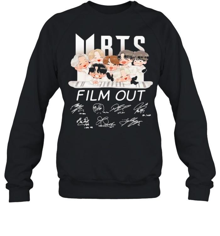 bts film out signature  unisex sweatshirt