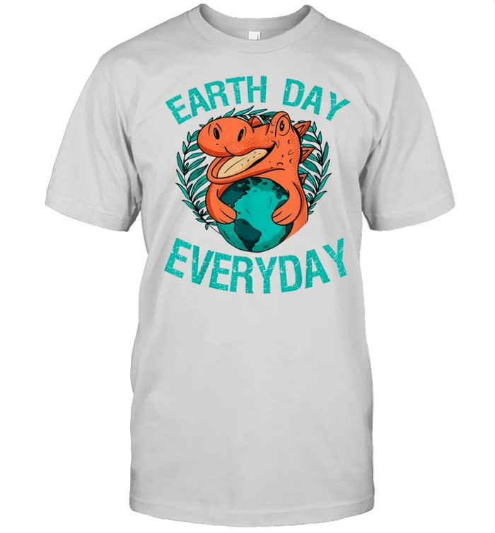 Dinosaur t rex earth day everyday nature lovers 2021 shirt Classic Men's T-shirt