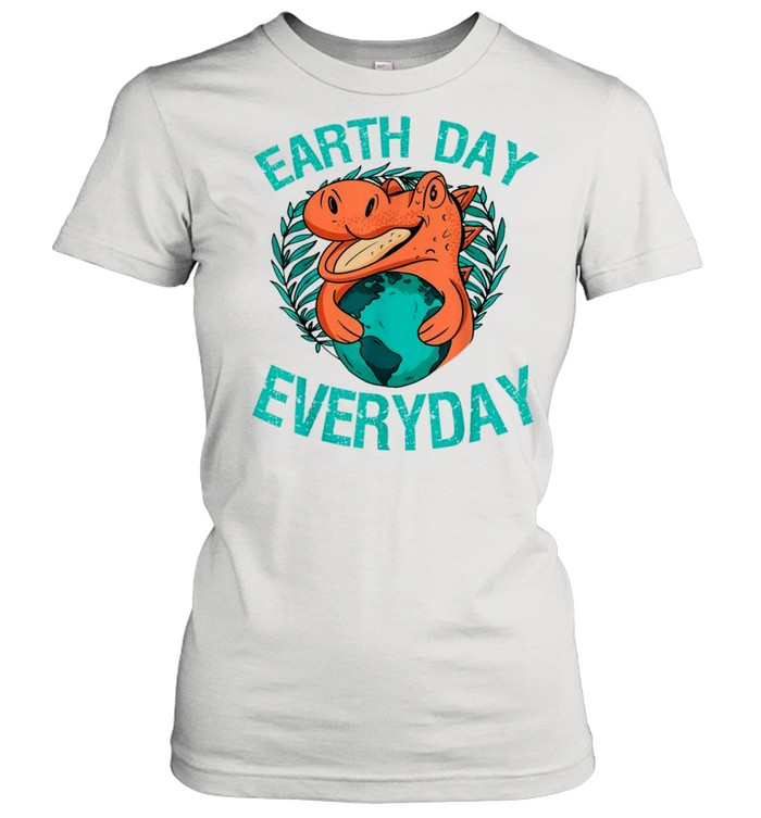 dinosaur t rex earth day everyday nature lovers 2021 shirt classic womens t shirt