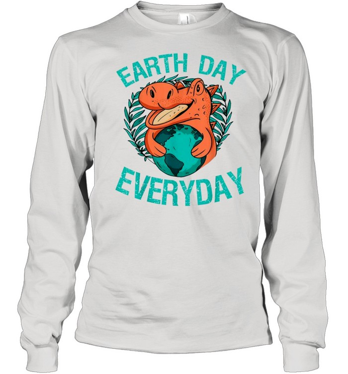 dinosaur t rex earth day everyday nature lovers 2021 shirt long sleeved t shirt