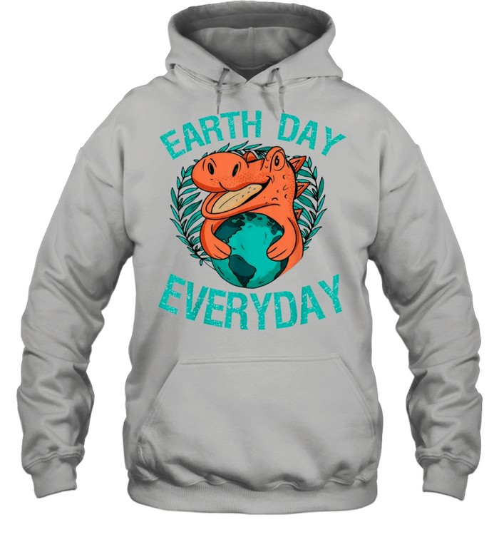 dinosaur t rex earth day everyday nature lovers 2021 shirt unisex hoodie