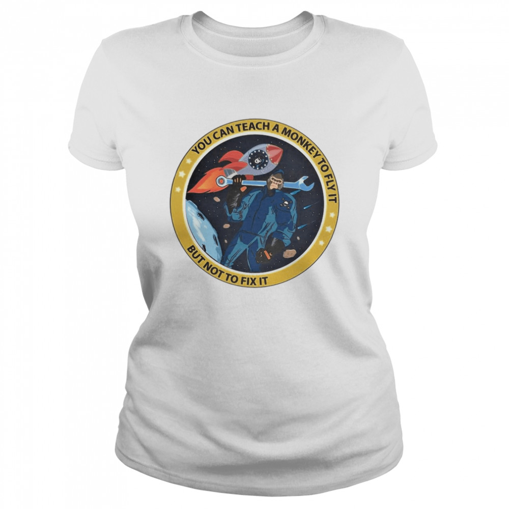 bigfoot you can teach a monkey to fly it but not to fix it t shirt classic womens t shirt