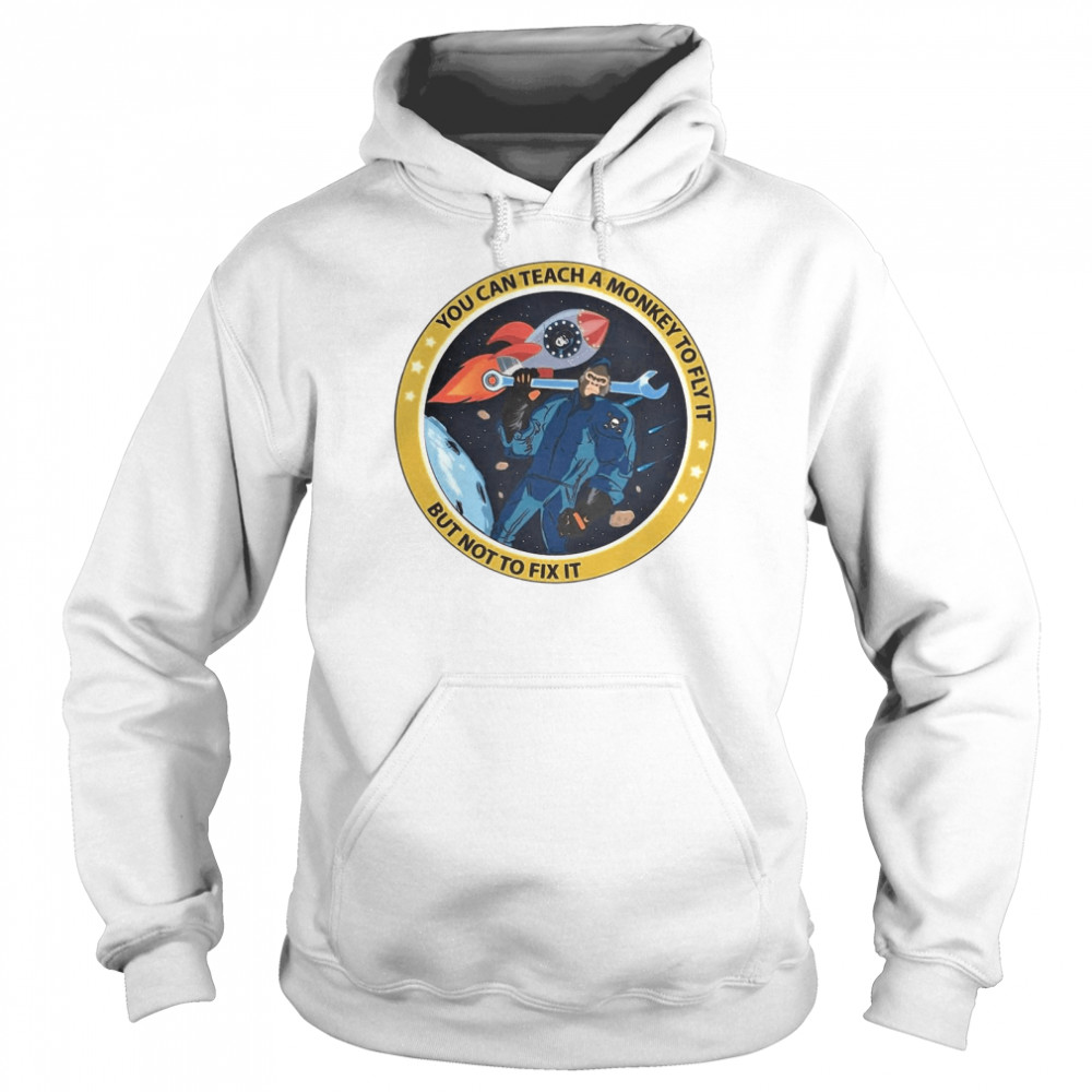 bigfoot you can teach a monkey to fly it but not to fix it t shirt unisex hoodie